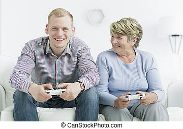 Beating her grandson