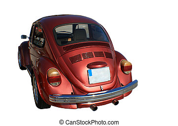 beatle, rood, vw