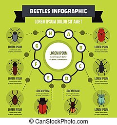 Beatles infographic concept, flat style - Beatles...