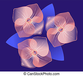 Beaty Flowers - Beautiful abstract flowers vector ...