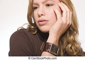 Beaty model portrait - Portrait of a beautiful blond model ...