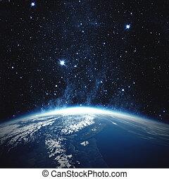 beau, éléments, meublé, ceci, image, planète, nasa, earth.