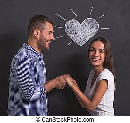 beau, émotif, couple