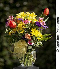 beau, été, fleurs, bouquet