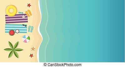 beau, été, fond, vacances, plage, jour