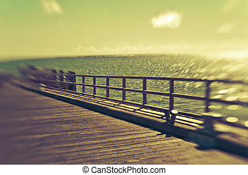 beau, île, paradis