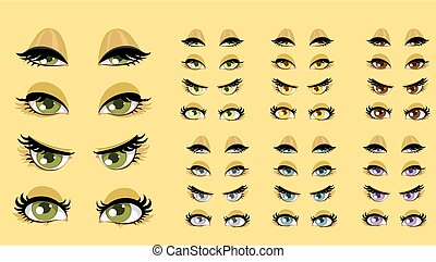 beau, 1, yeux, femmes