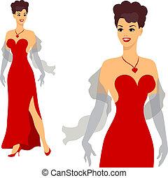 beau, 1950s, épinglez, girl, style.