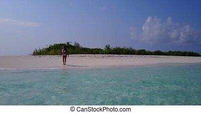 beau, aérien, banc sable, mer, sablonneux, bleu, 1, voler, ...