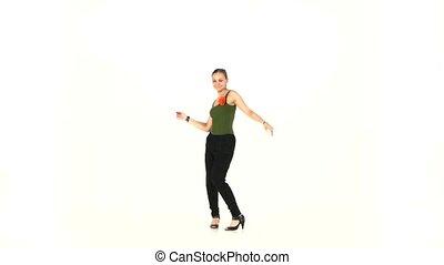 beau, action, blanc, danseur, latina