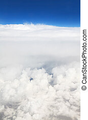 beau, aircraft)., nuages, (type, cumulus