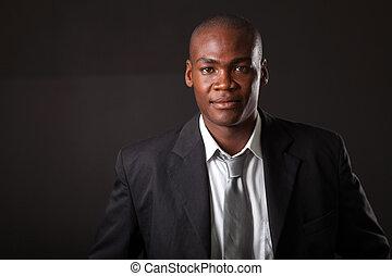 beau, américain africain, homme affaires