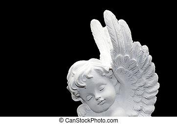 beau, ange blanc