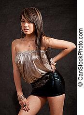 beau, années vingt, femme, asiatique