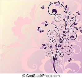 beau, arbre, fond