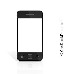 beau, arrière-plan., blanc, smartphone