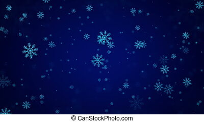 beau, arrière-plan., flocons neige