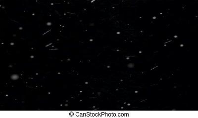 beau, arrière-plan., noir, isolé, chute neige