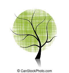 beau, art, arbre