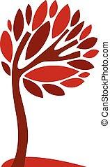 beau, art, eco, saison, image, perspicacité, symbole., illustration, créatif, stylisé, arbre, idée, vecteur, plant.