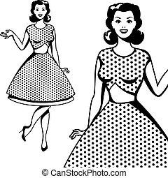 beau, art, pop, retro, girl, style.