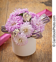beau, aster, bouquet fleur