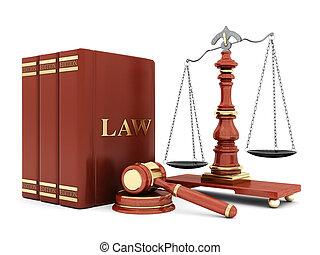 beau, attributes, image, judiciaire