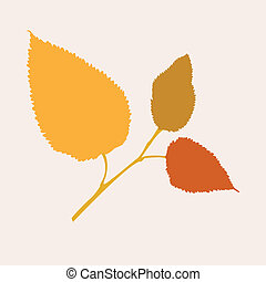beau, automne, branche arbre