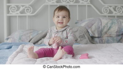 beau bébé, 4k, girl.