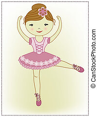 beau, ballerine, girl, agréable