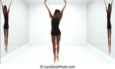 beau, ballerine, moderne