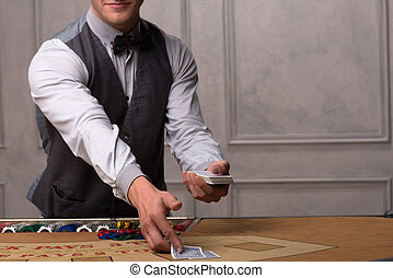 beau, beau, femme, homme, casino