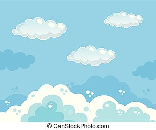 beau, bleu, ciel clair, fond