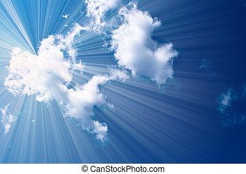 beau, bleu, ciel