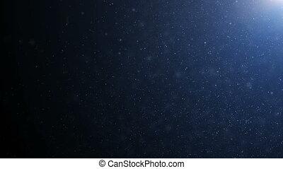 beau, bleu, fait boucle, flamme, motion., dynamique, bokeh., air, particules, lent, noir, 4k, fond, 3840x2160, poussière, vent, flotter, ultra, animation, hd, 3d