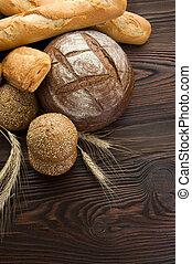 beau, boulangerie, frontière, pain