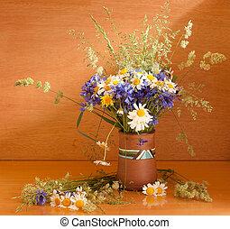 Beau bouquet fleurs sauvage beau bouquet fond sauvage fleurs blanches - Bouquet de fleurs sauvages ...