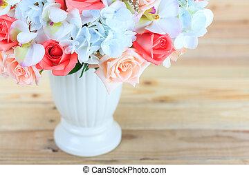 beau, bouquet, fleurs