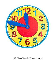 beau, cadran, clock-face, horloge