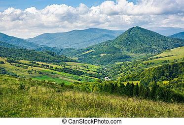 beau, campagne, montagne
