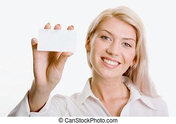 beau, carte, tenue femme, business