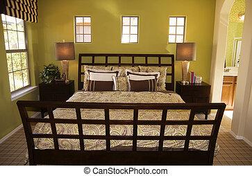beau, chambre à coucher