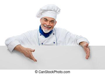 beau, chef cuistot