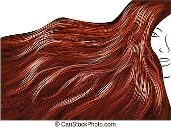 beau, cheveux bruns