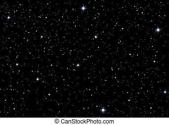 beau, ciel, étoiles, nuit
