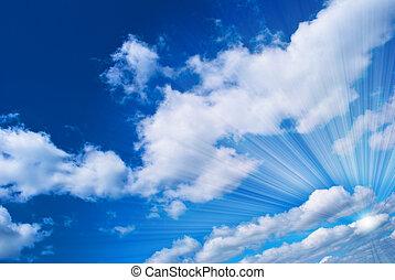 beau, ciel bleu