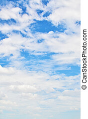 beau, ciel bleu, nuageux, fond