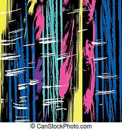 beau, coloré, lignes, illustration, vecteur, graffiti, fond, noir