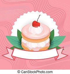 beau, coloré, nourriture, dessert, délicieux, doux, gâteau