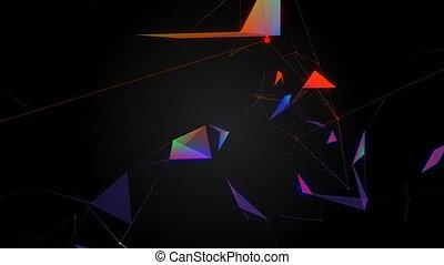 beau, concept, plexus., coloré, résumé, arrière-plan., holiday.